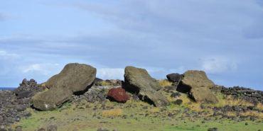 智利復活島。東部海岸隨興逛。倒塌moai任你看