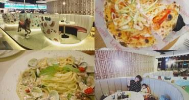 新竹美食│LeNINI 樂尼尼義式餐廳 新竹晶品城店。旋轉木馬x夢幻咖啡杯座位*