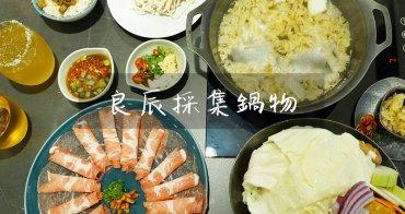 新竹美食│竹北良辰採集鍋物。湯頭食材新鮮美味~值得細細品味的高質感火鍋店!