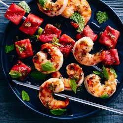 Nice Shrimp Skewers Grilled Watermelon Shrimp Skewers Recipe Sunset Magazine How Long To Grill Shrimp On Gas Grill How Long To Grill Shrimp On George Foreman Grilled Watermelon