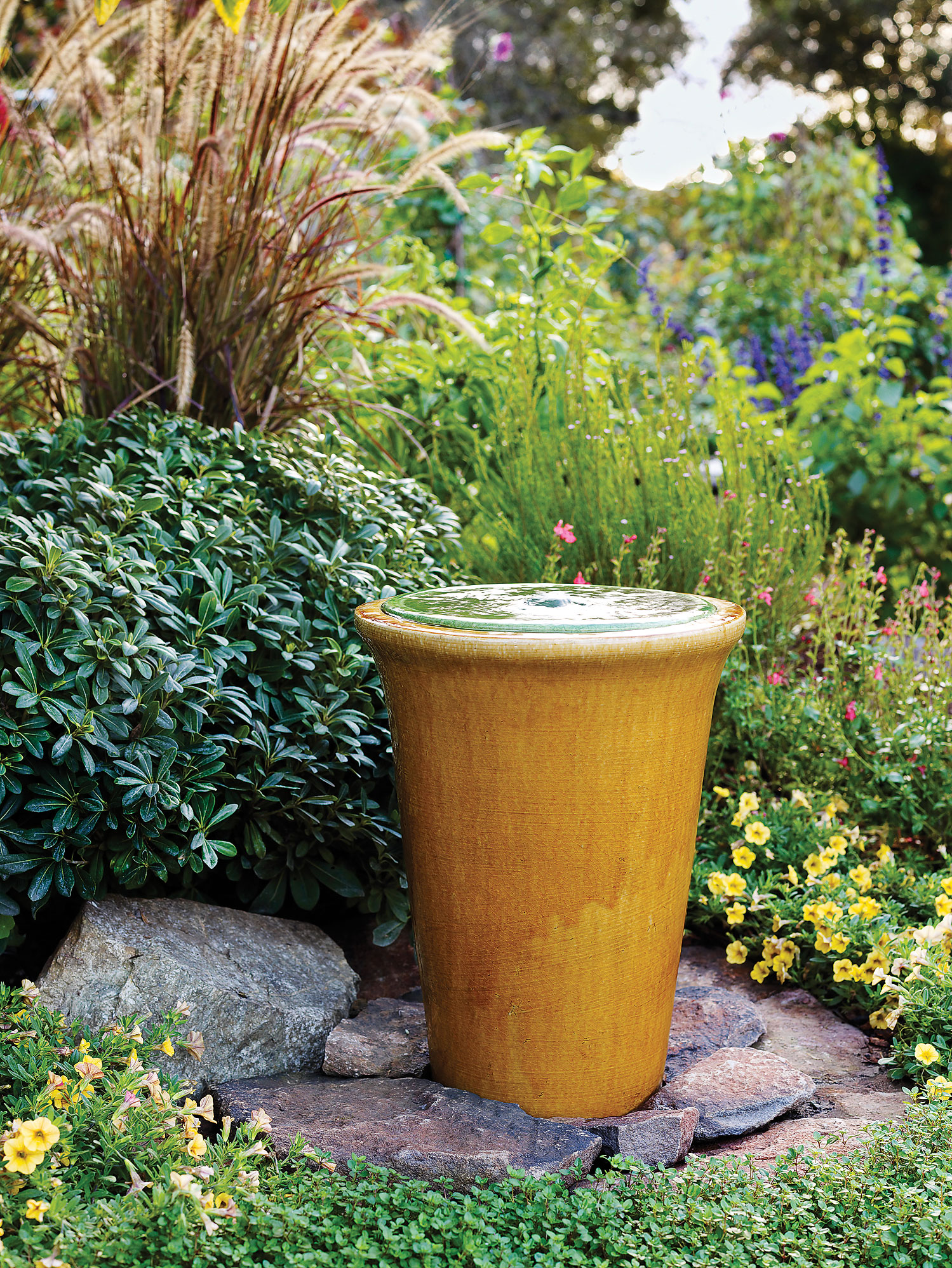 Shapely Diy Fountain Diy Garden Projects Sunset Sunset Magazine John Deere 52 Backyard Landscaping Projects Backyard Ideas Projects outdoor Backyard Landscaping Projects