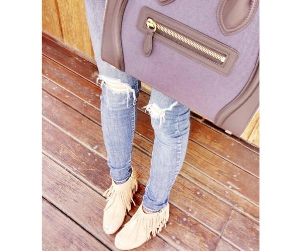 流蘇短靴 (有三色)