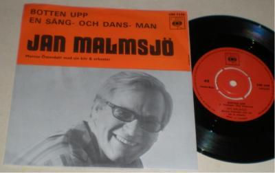 Jan Malmsjö 45/PS Botten upp 1968 VG++ på Tradera.com - M, Svensk musik,