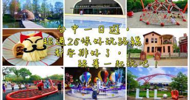 2019台中旅遊景點懶人包》連休假這樣玩!台中一日遊景點行程規劃超過29條路線全攻略!