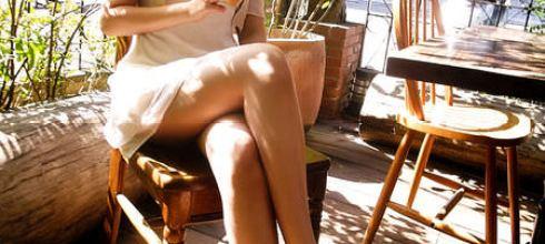 [穿搭] 裸色高跟鞋、蕾絲陽傘與陽光