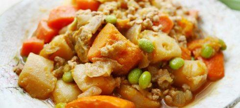 [食譜] 日式馬鈴薯南瓜燉肉做法