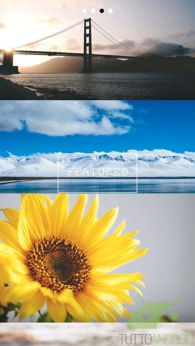 Frame - Wallpapers, una collezione di sfondi per Android da Unsplash.com | TuttoAndroid
