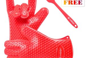 ZZSMART BBQ Grilling Silicone Cooking Gloves