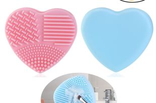 PIXNOR Makeup Brush Cleaner Finger Glove Silicone Cosmetic Clean Tools Pack of 2