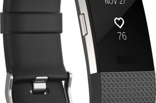 Fitbit – Charge 2 Activity Tracker + Heart Rate (Large) – Black Silver