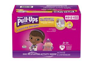 Pull-Ups Learning Designs Training Pants for Girls, 2T-3T, 74 Count