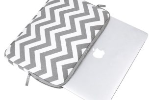 Mosiso Chevron Style Canvas Fabric Laptop Sleeve Case Bag Cover for 13-13.3 Inch