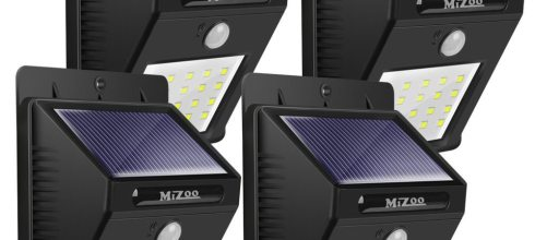 Mizoo Solar Powered Motion Sensor Light