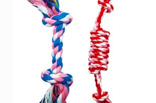 FUNPET 2 Pack Pet Puppy Dog Chew Durable Rope Toy
