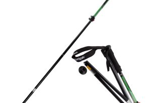 Portable Trekking Pole Compact Foldable Hiking Stick Ultralight, Adjustable Height