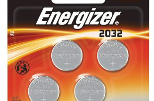 Energizer 2032BP-4 3 Volt Lithium Coin Battery – Retail Packaging (Pack of 4)