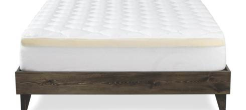 Mattress Pad with Fitted Skirt - 2 Piece Pad + Memory Foam Topper