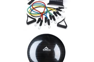 Black Mountain resistance band & stability ball bundle