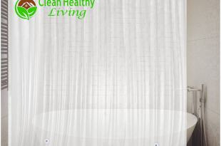 Premium PEVA Shower Liner / Curtain: Odorless & Mildew Resistant (with Magnets & Suction Cups). Eco Friendly 70 x 71 in. long – Frost Color