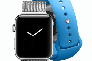 ELECAND Apple Watch Band 42mm – Stainless Steel Milanese Loop Iwatch Strap for Men and Women – Magnetic Replacement Bands for Series 1 Series 2 Series 3 Sport and Edition + Bonus Blue Sport Band M/L