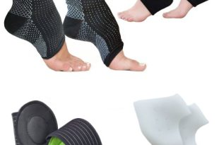 Foot Sleeve (1 Pair), Plantar Fasciitis Protectors (1 Pair), Arch Support Therapy Wrap (1 Pair), Cushioned Heel Support (1 Pair) Ankle Foot Pain Relief Socks – (Pack of 8)