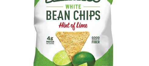 Beanitos Hint of Lime Bean Chips with Sea Salt, Plant Based Protein, Good Source Fiber, Gluten Free, Non-GMO, Vegan, Corn Free Tortilla Chip Snack