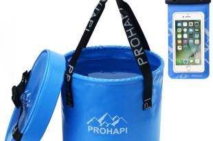 Prohapi Premium Compact Collapsible Bucket with Lid