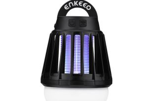 Enkeeo 2-in-1 Camping Lantern Tent Light Mosquito Killer – Portable IPX6 Waterproof Bug Zapper LED Lantern
