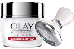 Olay Magnemasks Infusion – Korean Skin Care Inspired Deep Hydration, Rejuvenating Face Mask for Fine Lines & Sagging Skin – Starter Kit