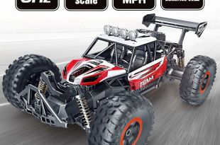 SPESXFUN RC 2018 Updated 2.4 Ghz High Speed Remote Control Car 1/16 Scale Off Road Trucks with Two Rechargeable Batteries, Racing Toy Adults and Kids(Red)