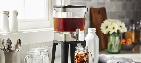KitchenAid Brushed Stainless Steel Cold Brew Coffee Maker XL 38 oz $54.95