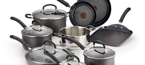 T-fal Hard Anodized 14-Piece Cookware Set $83.99