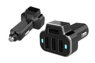 Aduro PowerStation 4-Port USB Car Charger 四孔車充 x 2 入 $13.99