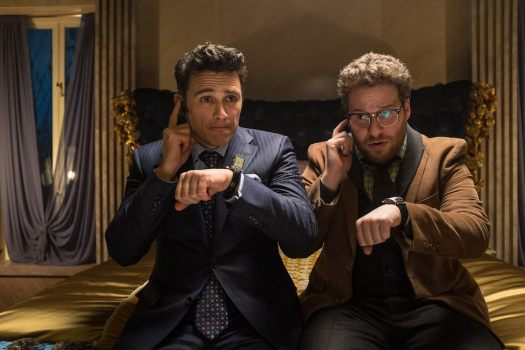 HANDOUT IMAGE: Dave (James Franco) and Aaron (Seth Rogen) in Columbia Pictures' THE INTERVIEW. © 2013 CTMG, Inc. All Rights Reserved. **ALL IMAGES ARE PROPERTY OF SONY PICTURES ENTERTAINMENT INC. FOR PROMOTIONAL USE ONLY. SALE, DUPLICATION OR TRANSFER OF THIS MATERIAL IS STRICTLY PROHIBITED. Photo by Ed Araquel/SONY PICTURES ENTERTAINMENT