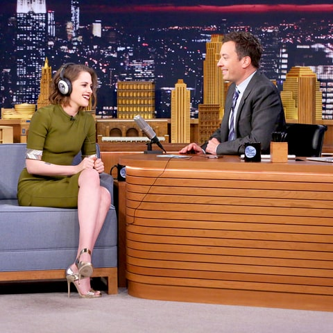 Kristen Stewart and Jimmy Fallon