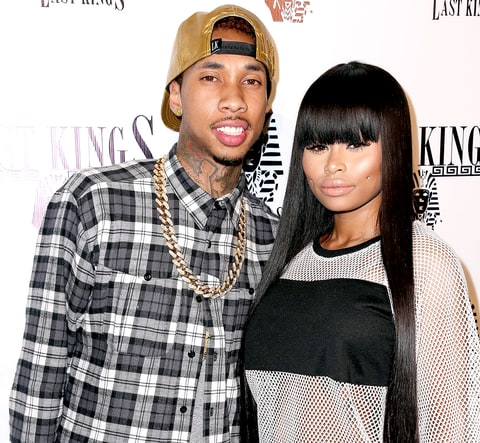 Tyga and Blac Chyna attend the exclusive press preview of Tyga's new store, Last Kings Flagship Store, on February 20, 2014.