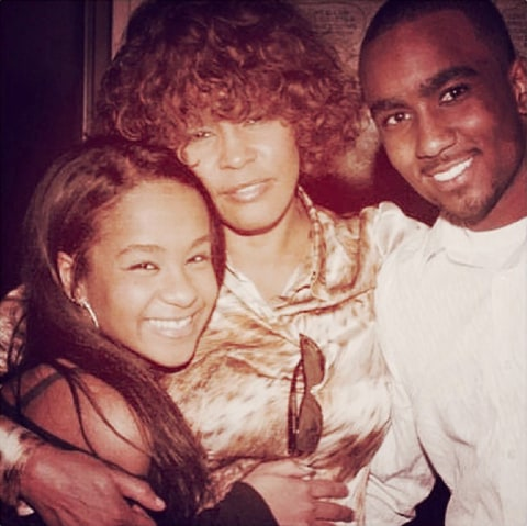 Bobbi Kristina Brown, Whitney Houston and Nick Gordon