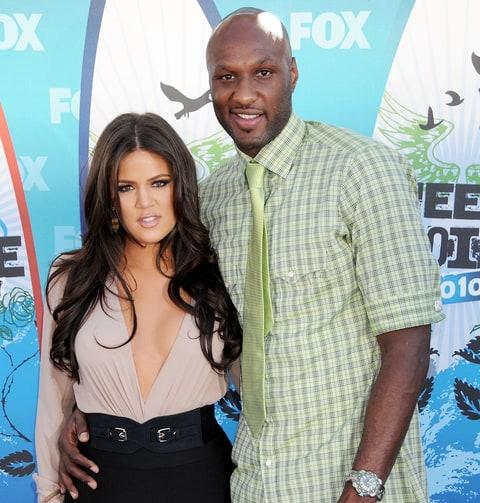 Khloé Kardashian and Lamar Odom in 2010