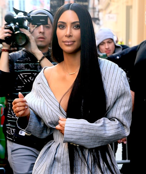 Kim Kardashian is seen in SoHo on February 14, 2017 in New York City.