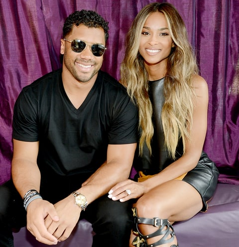 Russell Wilson and Ciara attend the season grand opening of the Marquee Nightclub at The Cosmopolitan of Las Vegas on March 19, 2016 in Las Vegas, Nevada.