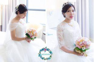 婚宴新娘秘書│永雋的韓式自然佳儒的婚紗造型