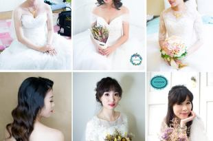 經典永久不同風格的白紗婚宴造型