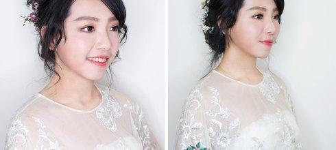 新娘秘書│童顏可愛系的夕陽橘色妝容