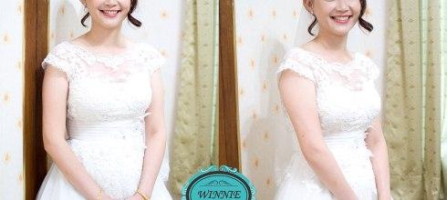 婚宴新娘秘書│經典時尚風格Eileen的皇冠迎娶造型