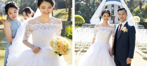 台南新秘│美式戶外婚禮首選花飾浪漫氣質新娘