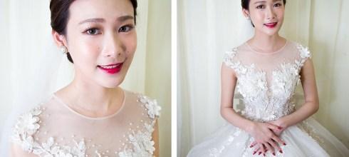 台南新秘│高貴優雅的皇冠白紗新娘造型