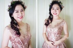 台南新祕│清透妝容和花花仙子的晚禮服浪漫風格