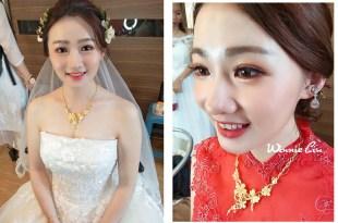 彰化新娘秘書│招牌花飾品各種造型的新娘