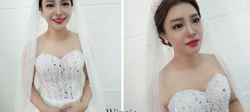 台南新娘秘書│大氣時尚的白紗新娘造型