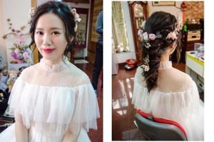 台南新娘秘書│歐式浪漫的花飾品新娘造型